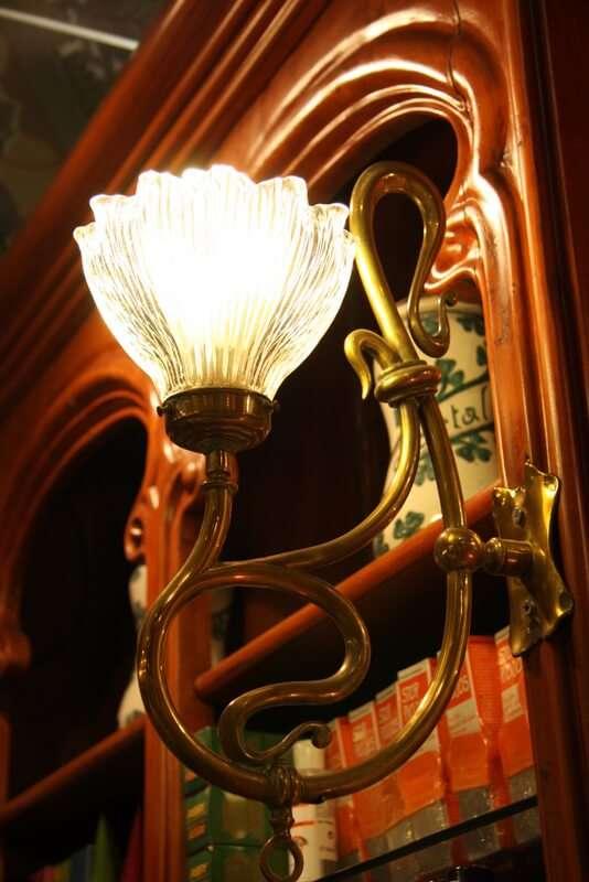 Lámpara antigua Farmacia Bolos